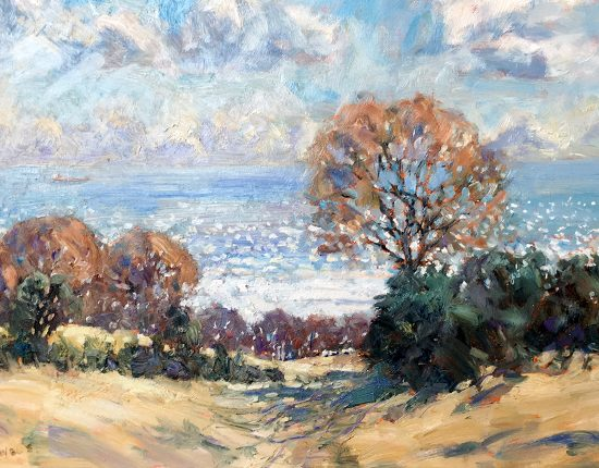 Autumn Shadows Near Newholm by Christine Pybus at the Harrison Lord Gallery