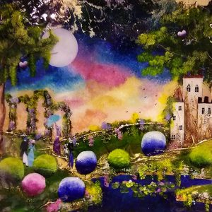 Harrison Lord Gallery Rozanne Bell Original Paintings - Fantasy Landscape