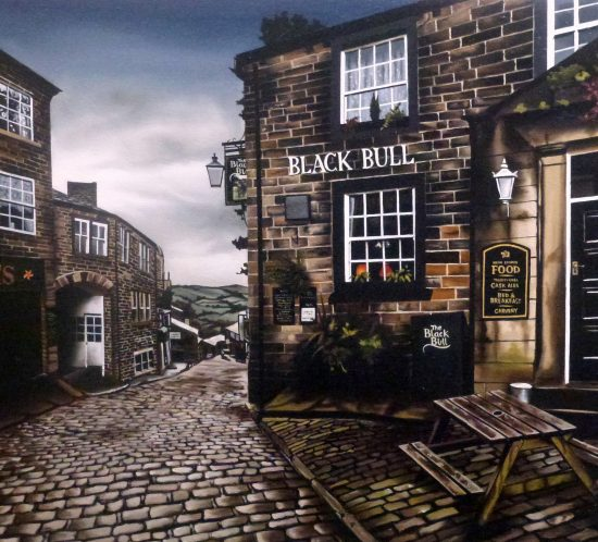 The Black Bull, Haworth by Amy Charlesworth at the Harrison Lord Gallery