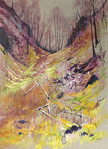 Abstract Valley by Helen Cassidy at the Harrison Lord Gallery
