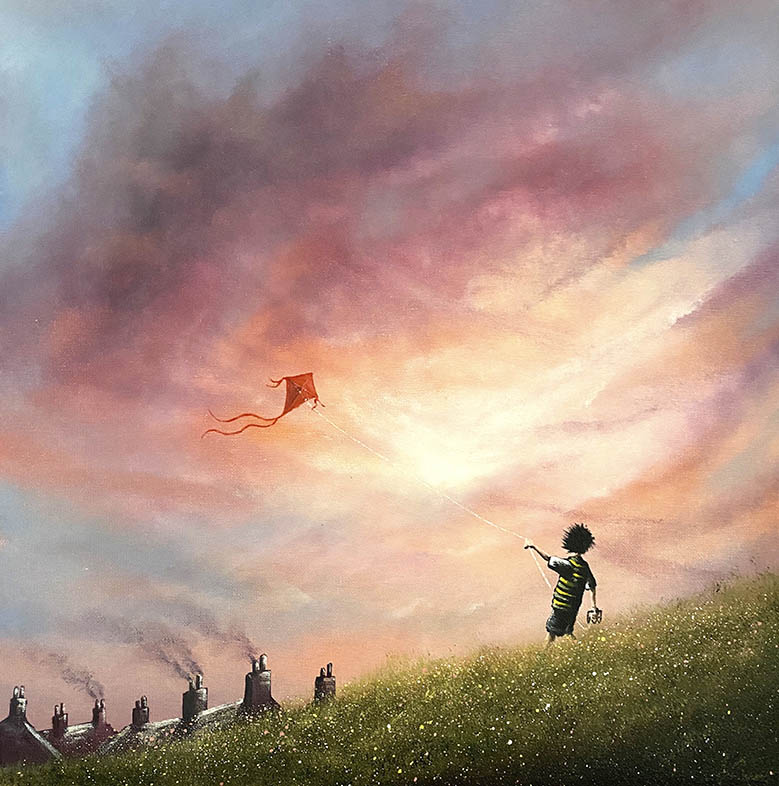 Danny Abrahams - Its breezy and bright lets go fly a kite 16x16