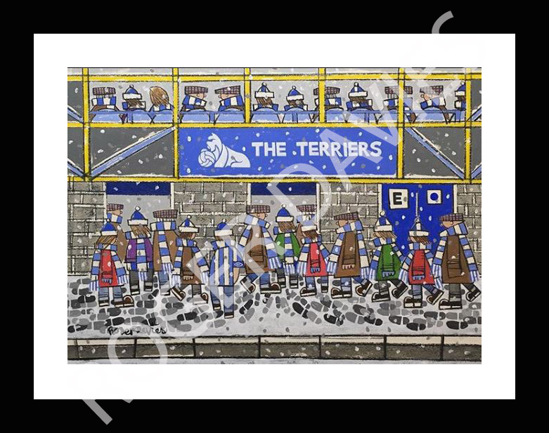 The Terriers going to the match even when it snows - Roger Davies