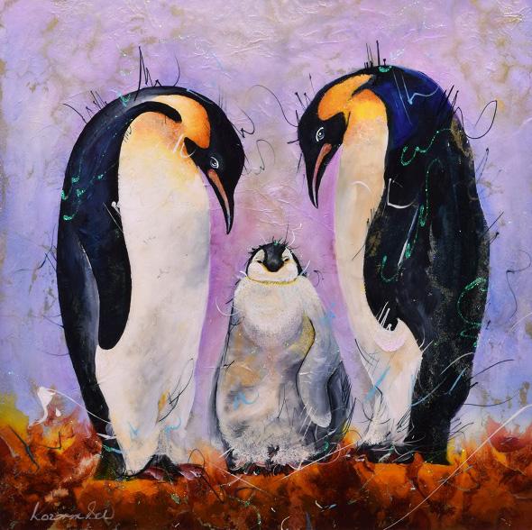Rozanne Bell - penguin family