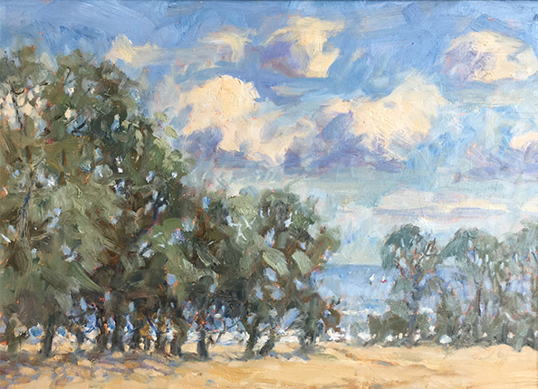 An Autumn Gale at Dunsley by Christine Pybus at the Harrison Lord Gallery