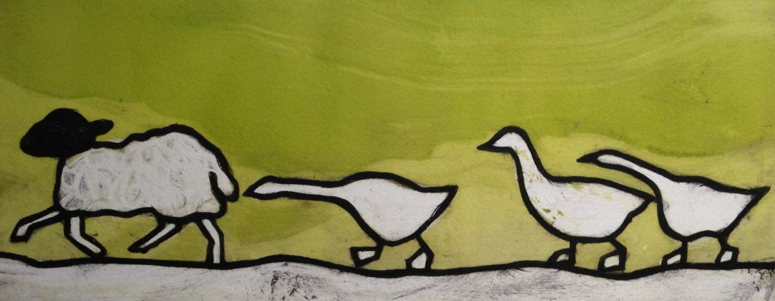 Goose Chase by Anna Tosney at the Harrison Lord Gallery