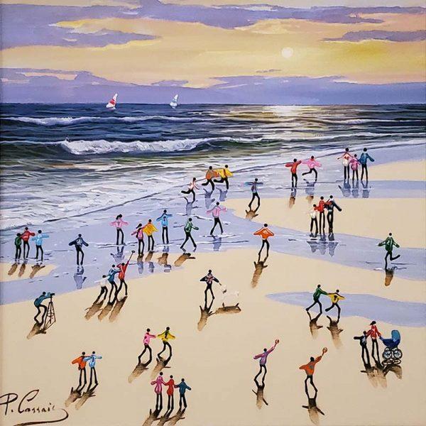Paola Cassais_original_ID47_sunset_at_the_beach