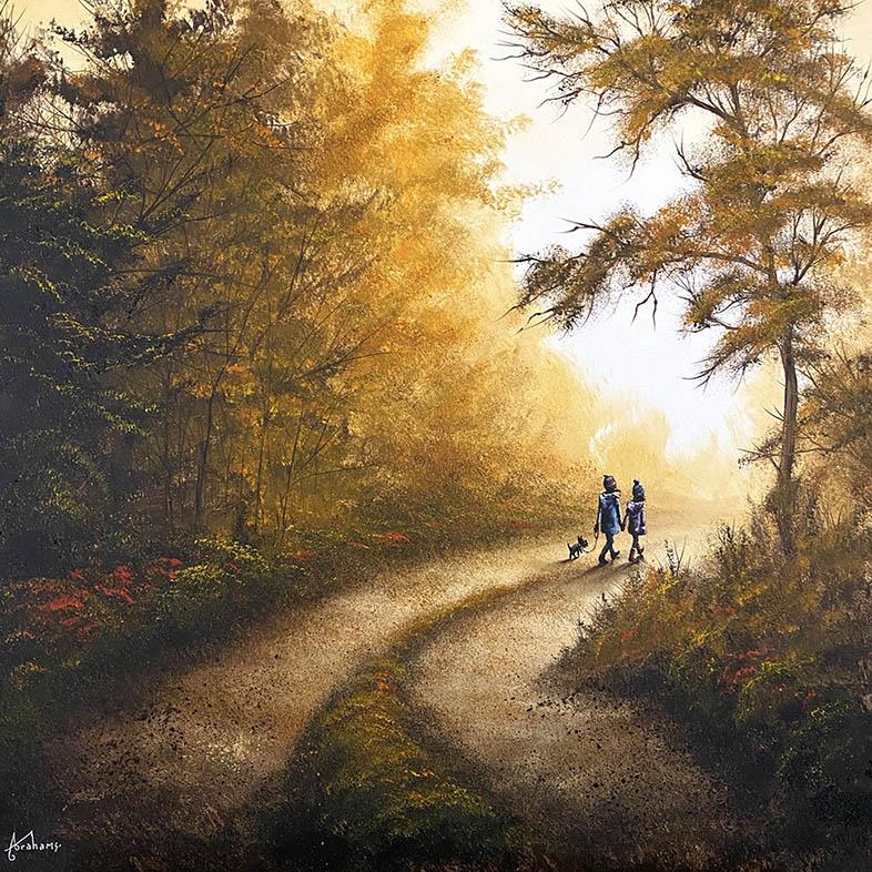 Danny Abrahams - Feeling the haze of autumn days 24x24