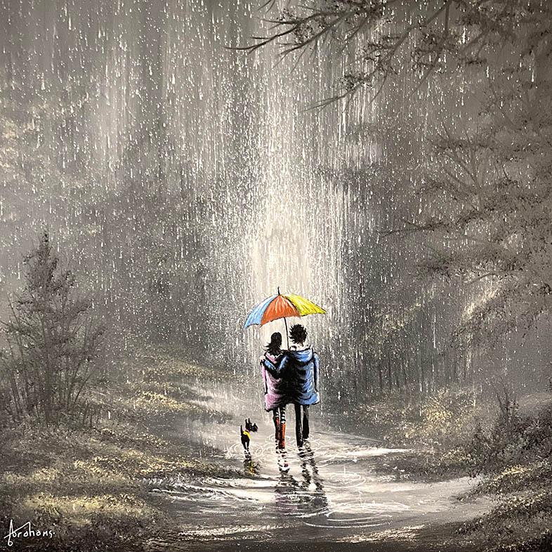 Danny Abrahams - Rain, puddles and plenty of cuddles 16x16