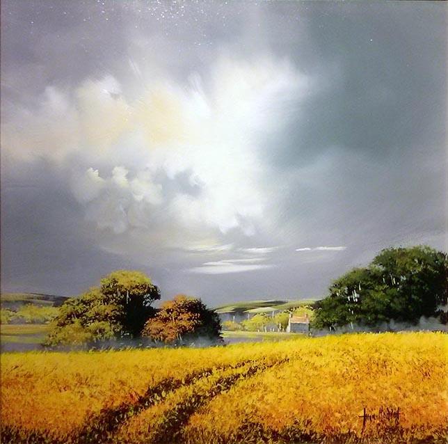 Allan Morgan artist - Yellow Fields