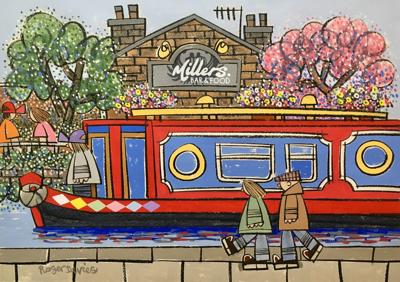 Roger Davies - On The Canal By Millers Bar In Brighouse-