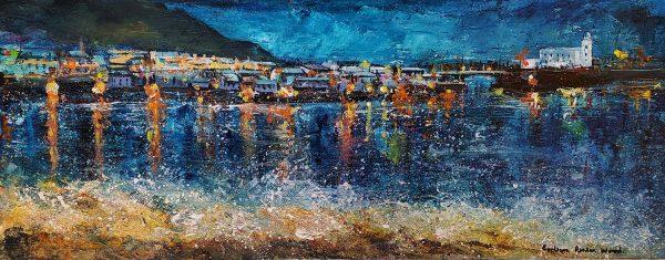 Barbara_Renton_Wood_original_canvas_wrap_Night_Lights_Scarborough_BRW49