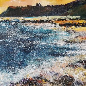 Barbara_Renton_Wood_original_canvas_wrap_Towards_Scarborough_castle_BRW51t