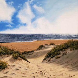 Ben_Goymour_framed_original_beach_ID91 - 350