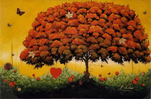 Elaine_Mather_Love_Tree_framed_original_ID357 - 350