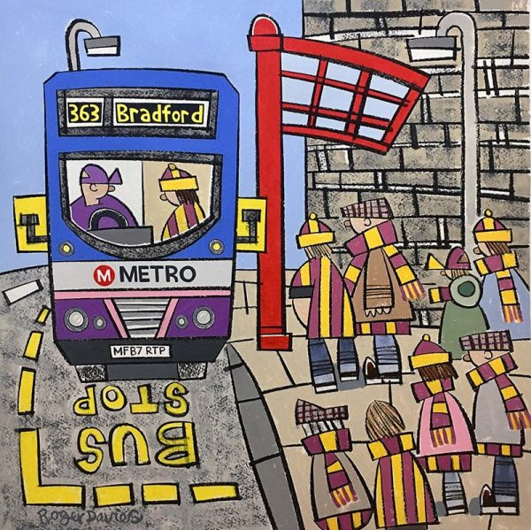 Roger_Davies_original_The_Bantams_Going_To_The_Match_On_The_363_RD225