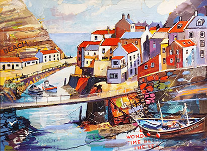 Sue Ford - Staithes Collage - 300