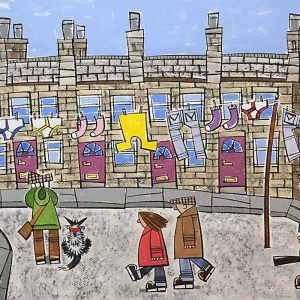 Roger_Davies_original_Watching_Peter_Brook_Sketching_In_Chapel_Street_While_People_Pass_Us_By_RD183