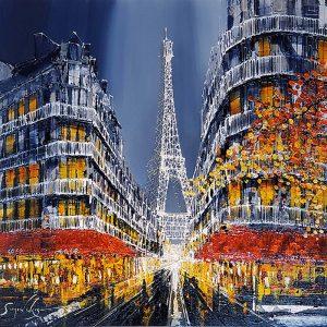 Simon Wright framed original Paris image
