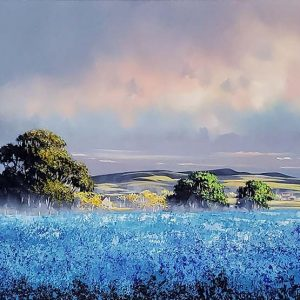Allan Morgan original Blue Landscape ID379
