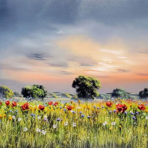 Allan Morgan original Summer Poppies ID389