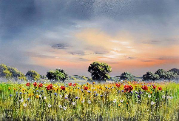 Allan Morgan original Summer Poppies ID389