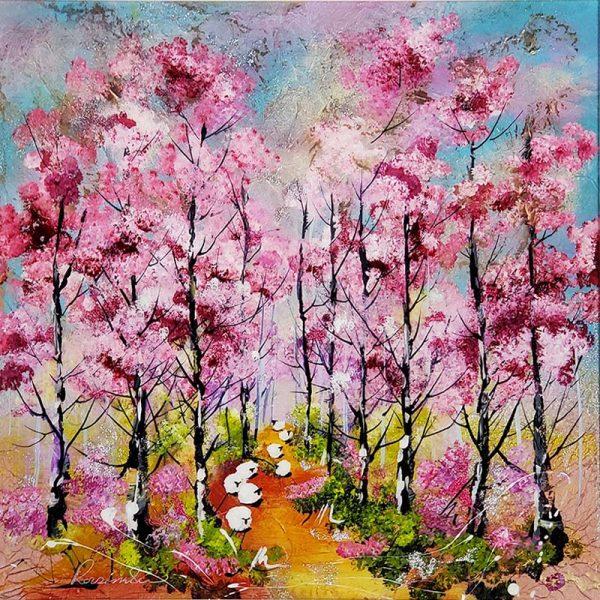Rozanne Bell original Pink Blossom Trees ID387