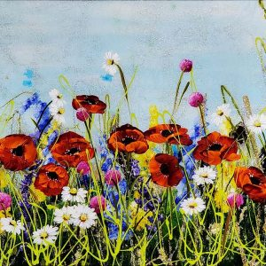 Rozanne Bell original Poppy Meadow ID381