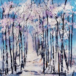 Rozanne Bell original Winter Trees ID385