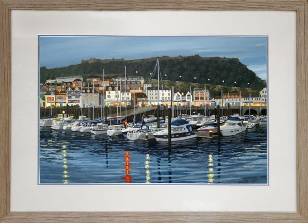 Barry Pickersgill framed original Home For the Night Scarborough BP116