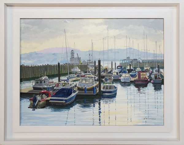 Barry Pickersgill framed original Scarborough Harbour BP117