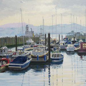 Barry Pickersgill original Scarborough Harbour BP117