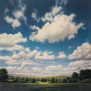 Chris Pepper original painting blue perspective CP12