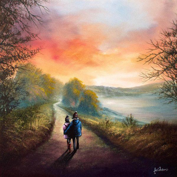 Danny Abrahams DA77- Enjoying A Walk Around Scammonden -original